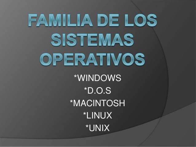 *WINDOWS *D.O.S *MACINTOSH *LINUX *UNIX
