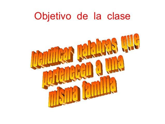 Objetivo de la clase