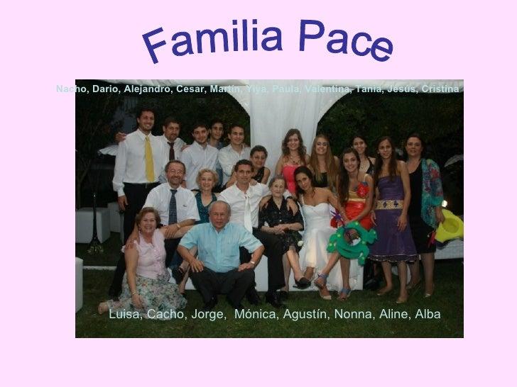 Familia Pace Nacho, Dario, Alejandro, Cesar, Martín, Yiya, Paula, Valentina, Tania, Jesús, Cristina Luisa, Cacho, Jorge,  ...