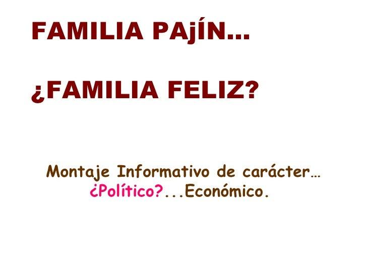 Familia pajn
