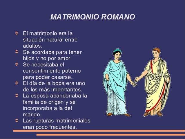 Matrimonio Romano Concepto : La familia romana
