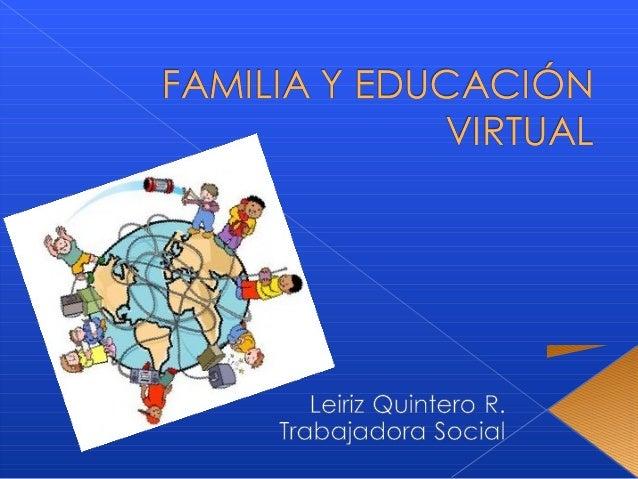 Familia y educación virtual