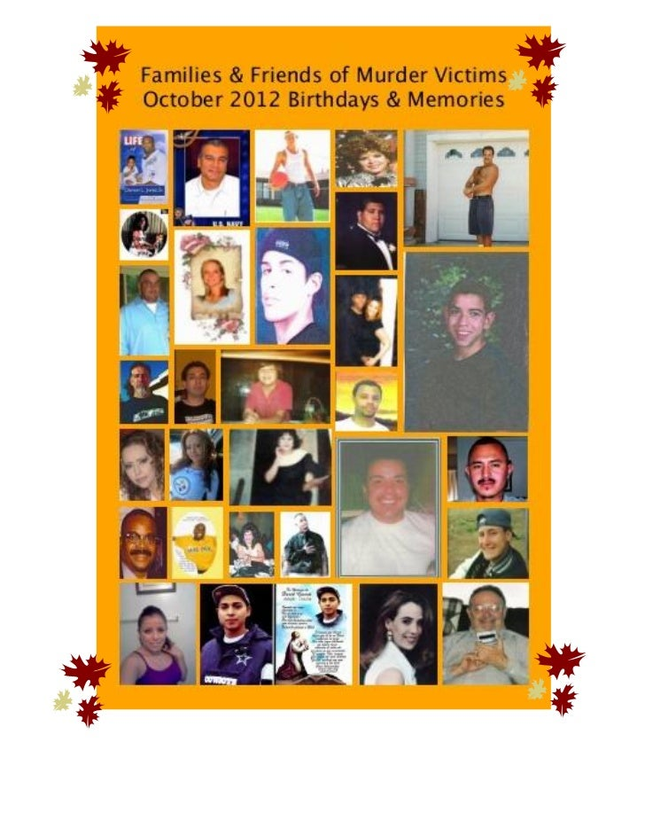 Families & Friends of Murder Victims   October 2012 newsletter