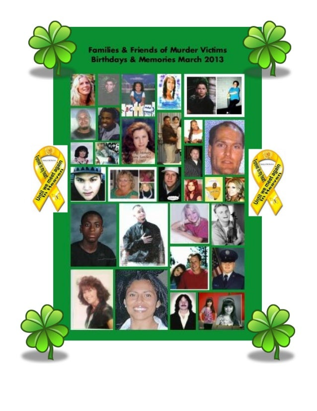 Families & Friends of Murder Victims March 2013 newsletter
