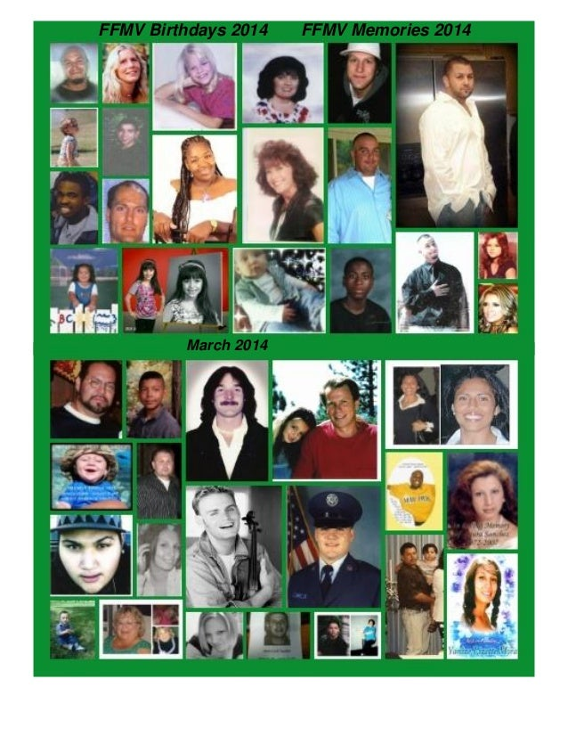 Families & Friends of Murder Victims - March 2014 newsletter