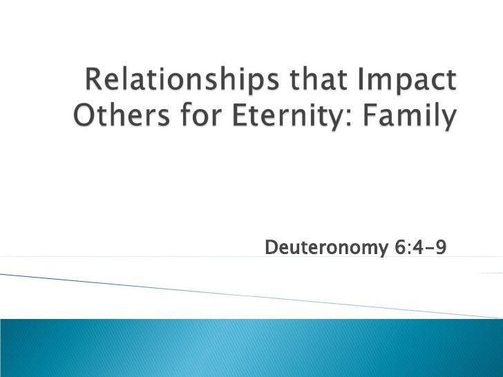 Deuteronomy 6:4-9
