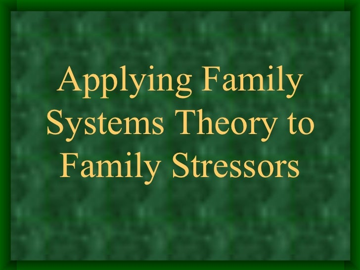 family system theory essay Ecological systems theory children and young people essay outline: the basic concepts of urie brofenbrenner's ecological systems theory how does urie.