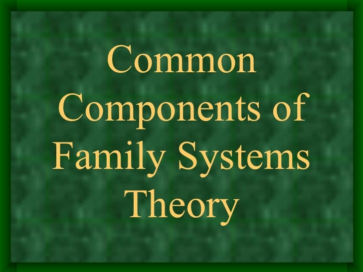 family system thesis The family systems theory conceptualizes the family as a system that is, the family consists of interrelated parts, each impacting the other and contributing to the growth (or detriment) of the.