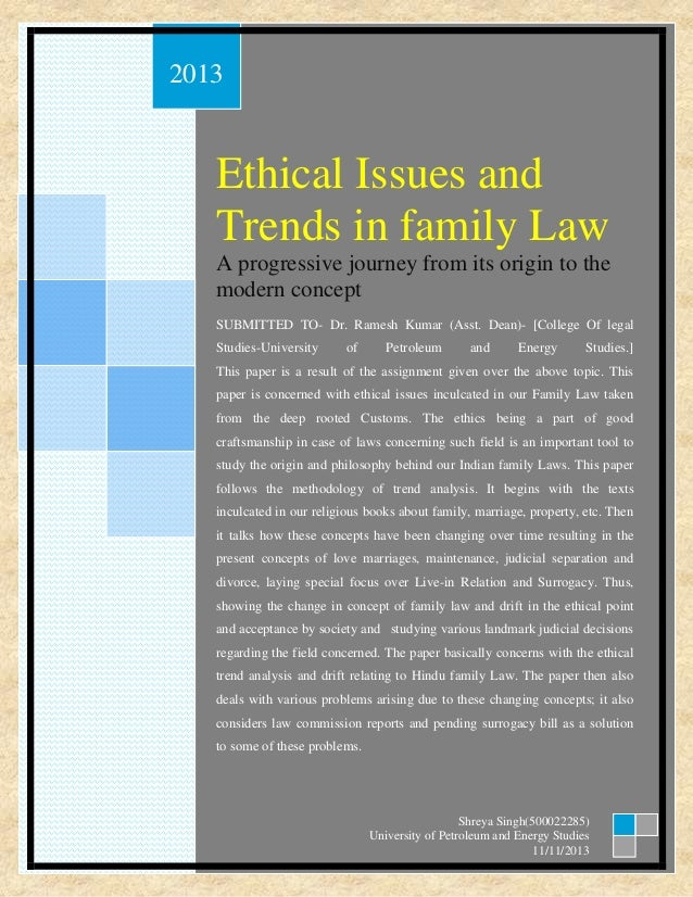 essays on ethics and law
