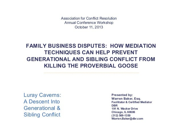 Family business disputes