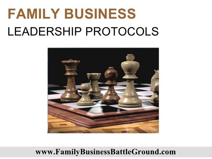Family Business Leadership Protocols