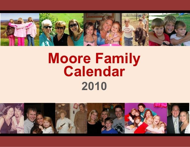 Family Calendar Moore 2010