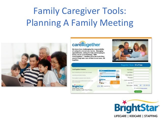 Family Caregiver Tools - Planning A Family Meeting