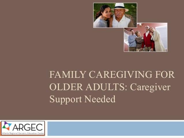 ARGEC: Family Caregiving for Older Adults