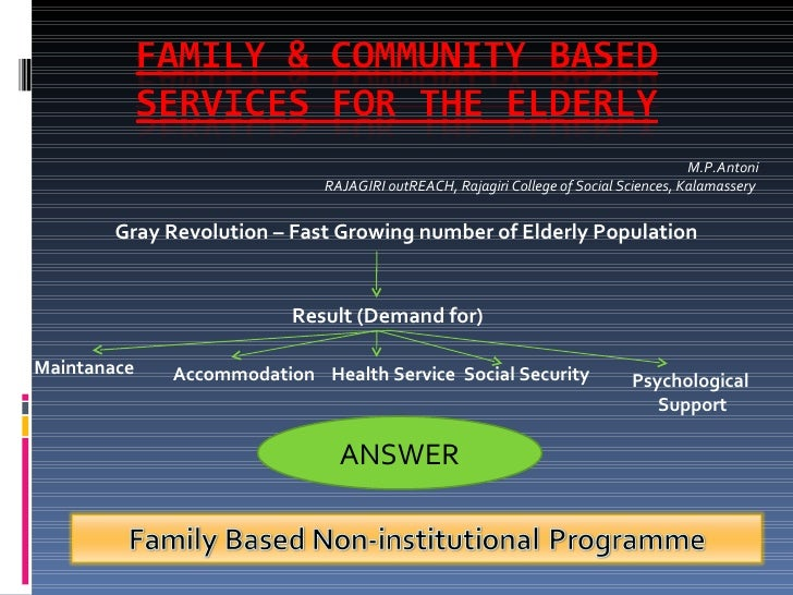 Family &  Community  Based  Services For The  Elderly