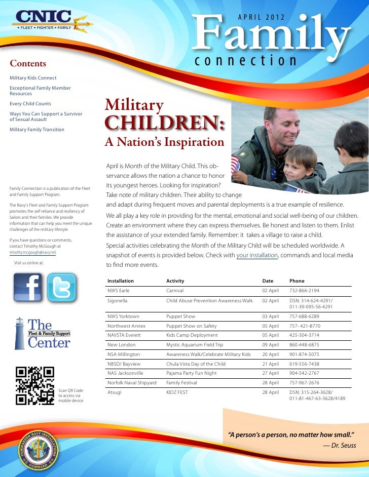 Family Connection Newsletter April 2012