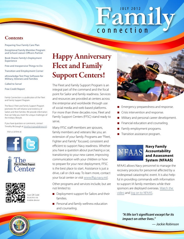 Family Connection Newsletter July 2012