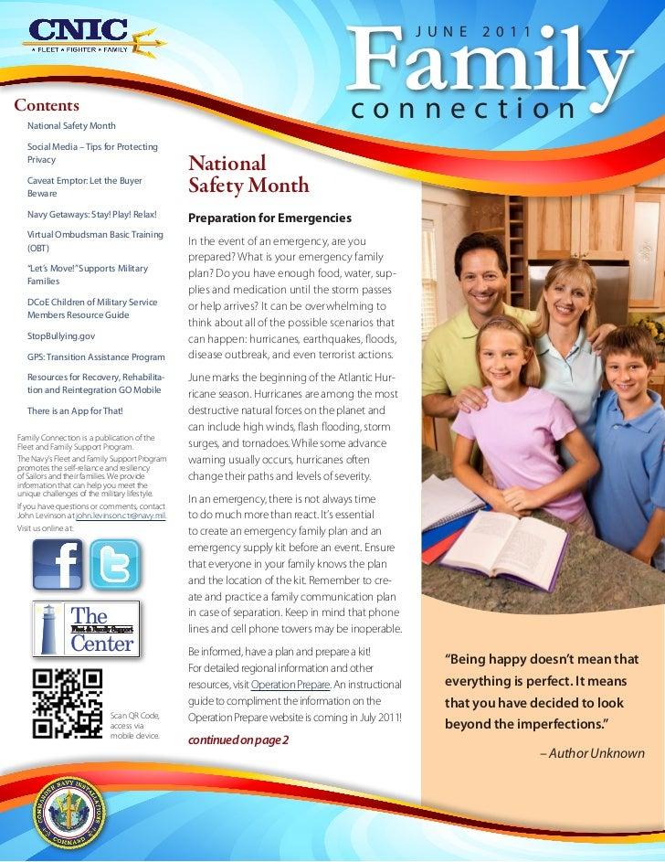Family Connection Newsletter June 2011