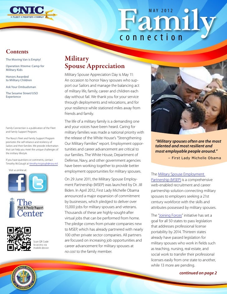 Family Connection Newsletter May 2012