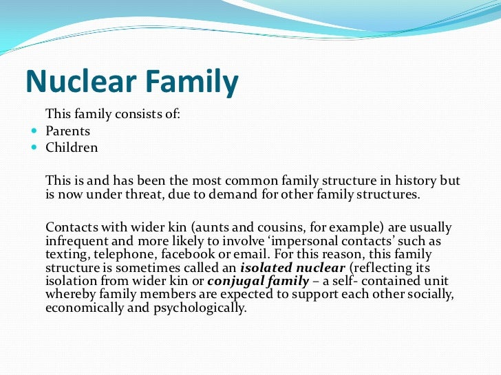 sociology essay on family The family's influence on socialization has been decreasing on the recent past the family plays a vital part in socialization  we will write a custom essay sample on sociology concepts specifically for you for only $1638 $139/page order now  family in sociology  send me this sample.