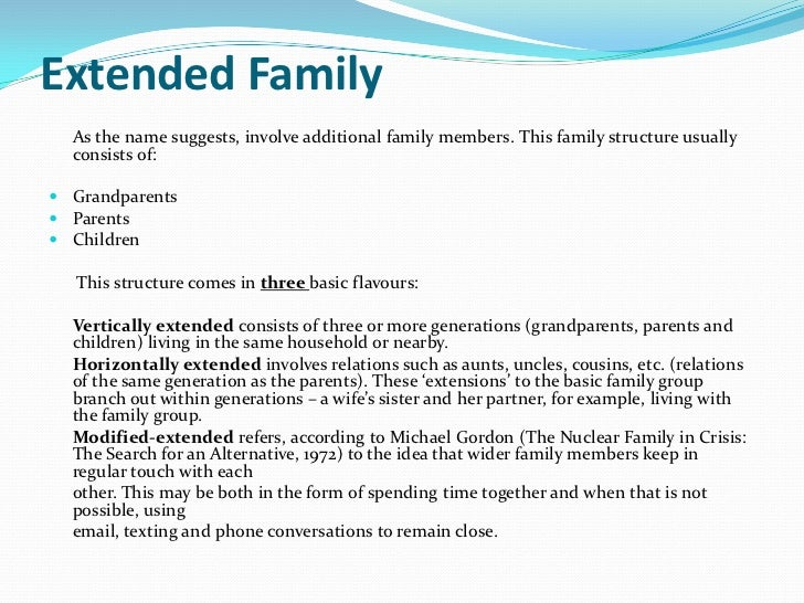 Define neo conventional family