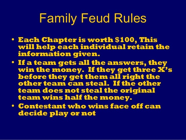 rules of family feud