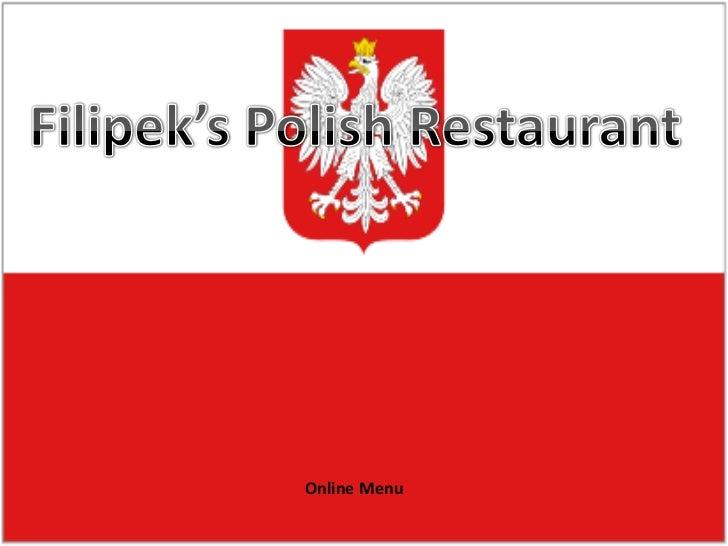 Family food culture project online menu