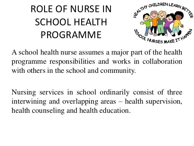 community health nursing role in the Topic 03: roles of community health nurses community health nurses wear many hats while conducting day-to-day practice the focus of nursing.