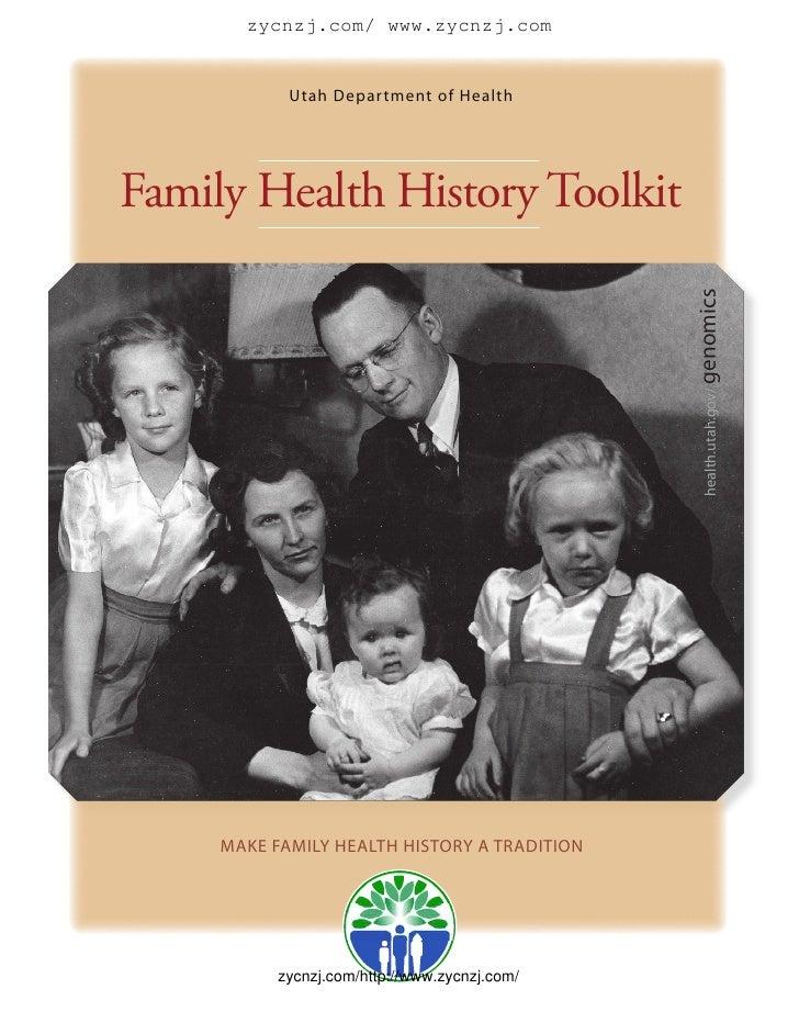 zycnzj.com/ www.zycnzj.com               Utah Department of Health     Family Health History Toolkit                      ...