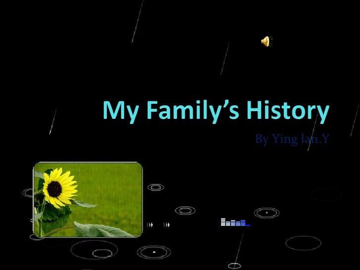 My Family's History