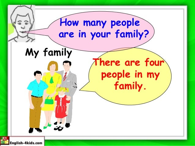 How many people are in your family? My family  There are four people in my family.