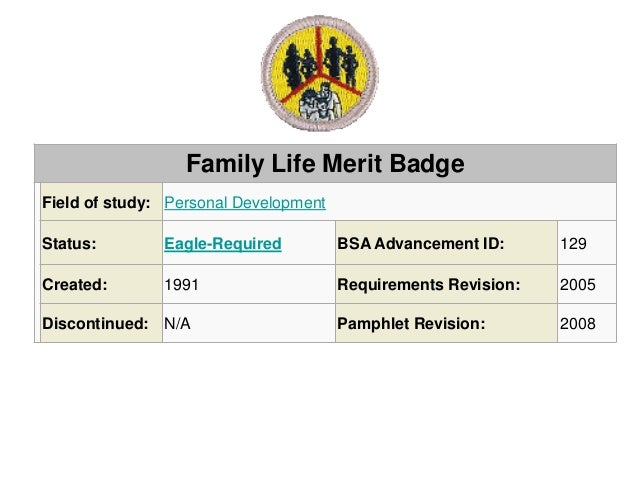 Boy Scout Merit Badge Outline For Family Pictures to Pin on – Family Life Merit Badge Worksheet