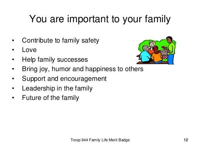 Family Life Merit Badge Worksheet - Delibertad