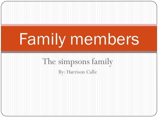Family members vocabulary. simpsons family