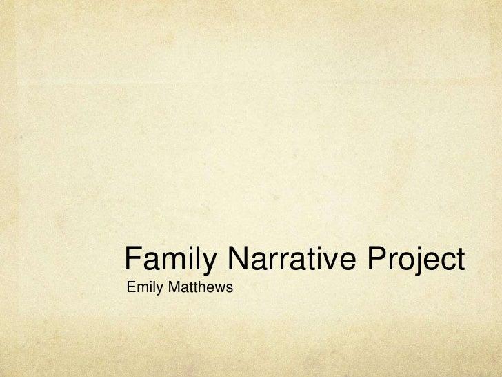 Family Narrative