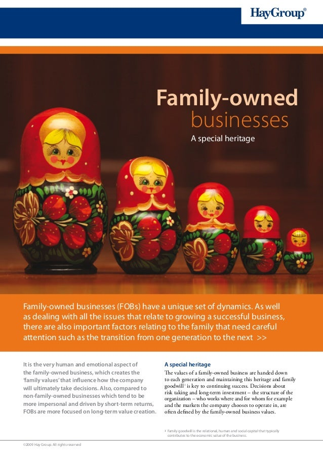 Family-owned                                                    businesses                                                ...