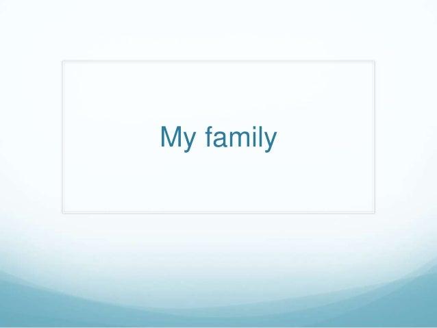 Family relatives
