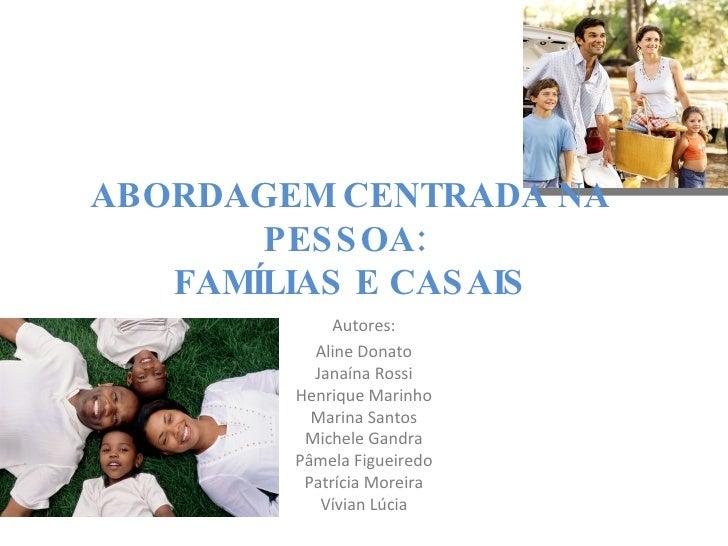Família - Abordagem Centrada Na Pessoa