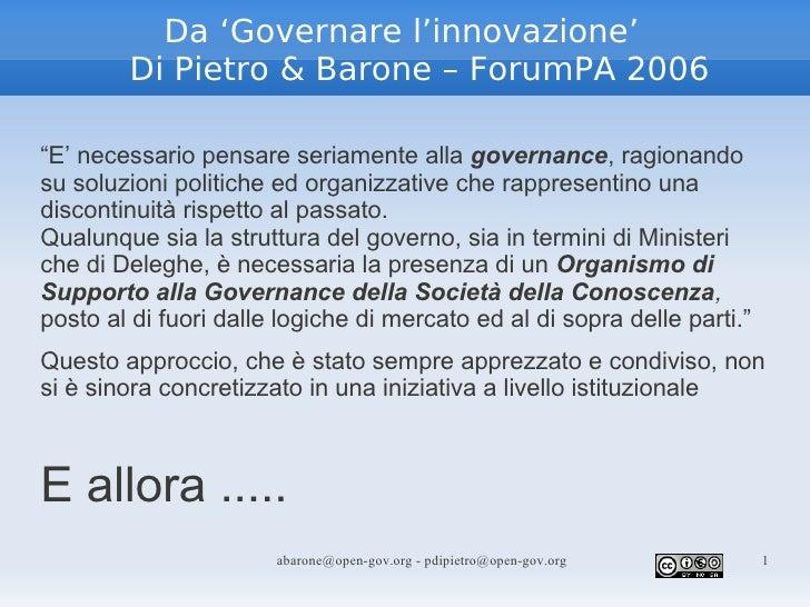 Fammi Sapere - 16 - Paolo Di Pietro - Open Government Engineering Task Force