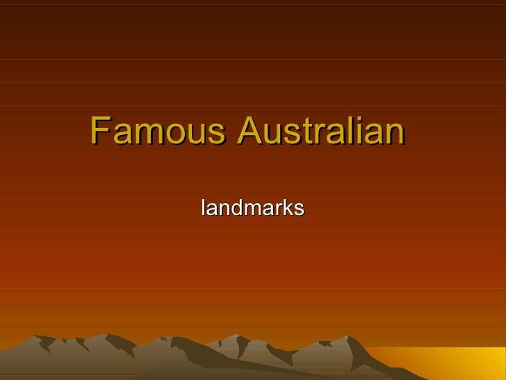 Famous Australian