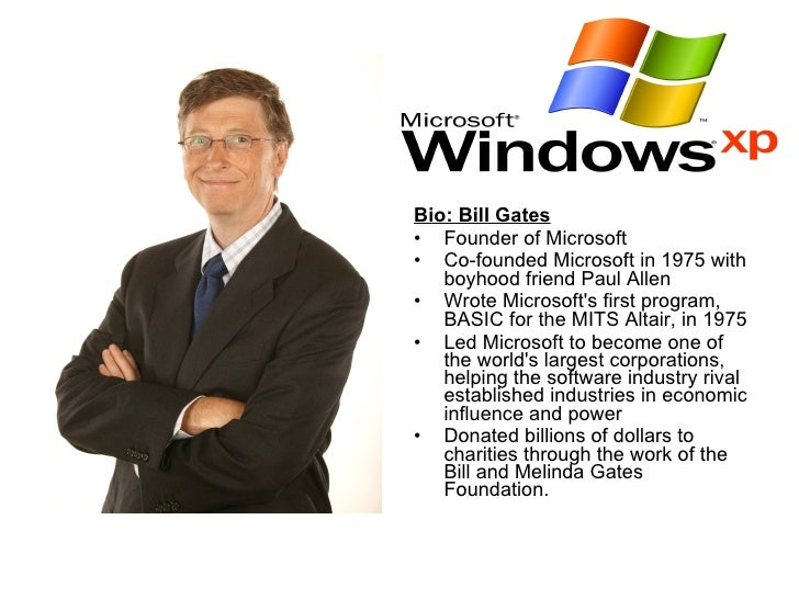 a biography of william henry gates the founder of microsoft Download royalty free bill gates biography powerpoint presentation for william henry bill gates iii pioneer bill gates | microsoft founder.