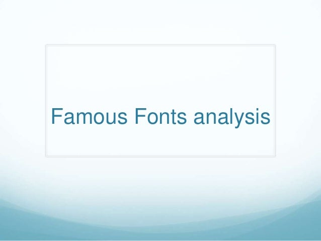 Famous fonts   media