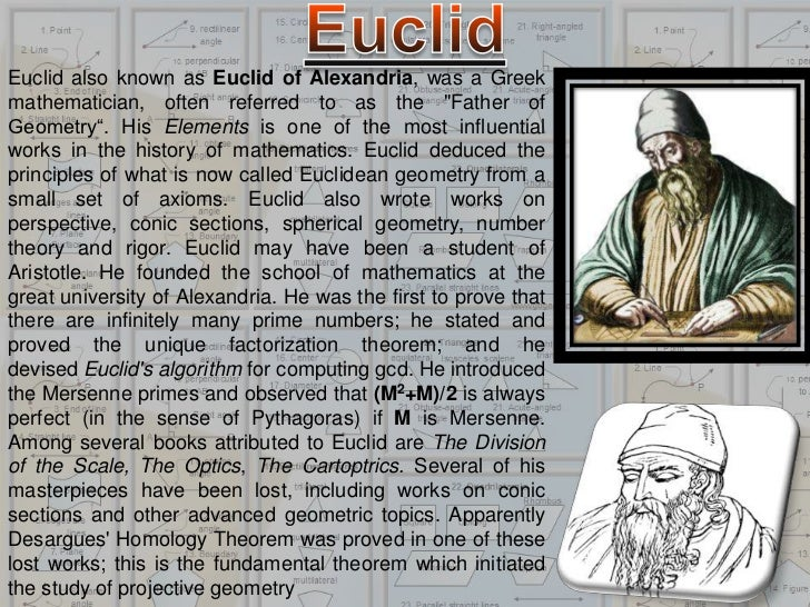 the most influential work of euclid the mathematician Hellenistic mathematics euclid  among the best known and most influential mathematicians who studied and  was the most prominent work on algebra in all.