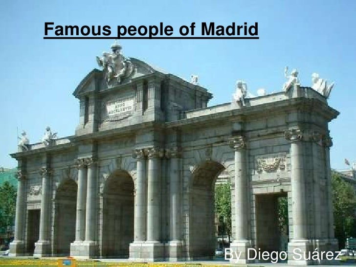 Famous people of madrid