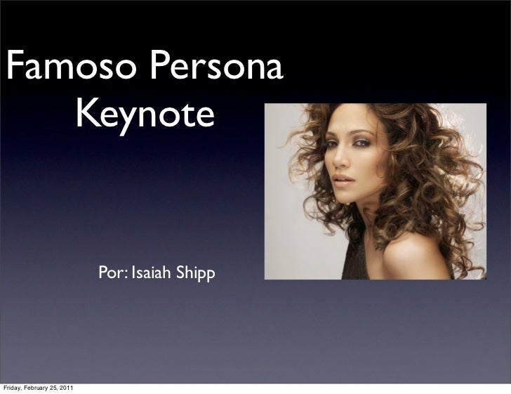 Famous spanish person keynote