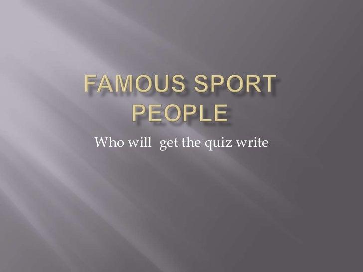 Famous sport1
