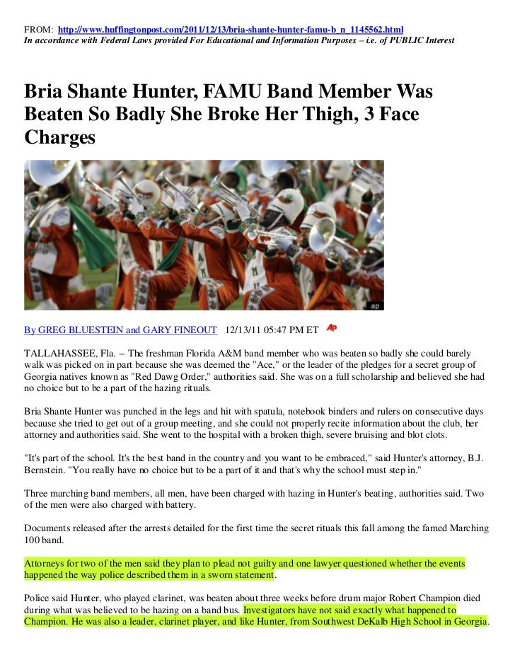 FROM: http://www.huffingtonpost.com/2011/12/13/bria-shante-hunter-famu-b_n_1145562.htmlIn accordance with Federal Laws pro...