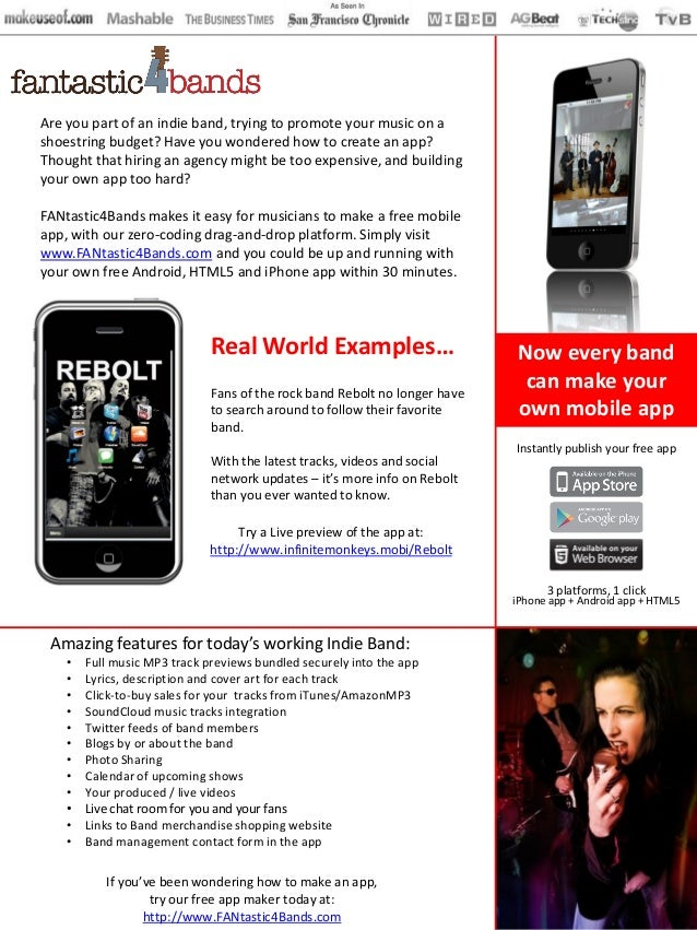 Are you part of an indie band, trying to promote your music on ashoestring budget? Have you wondered how to create an app?...