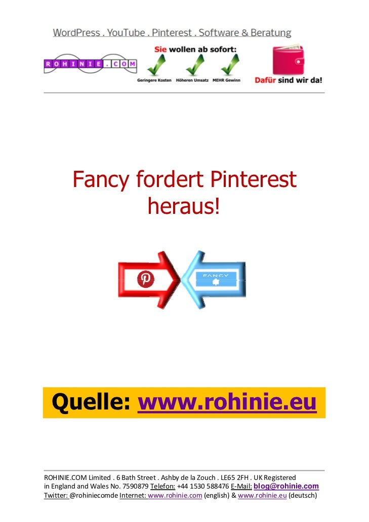 Fancy fordert Pinterest heraus