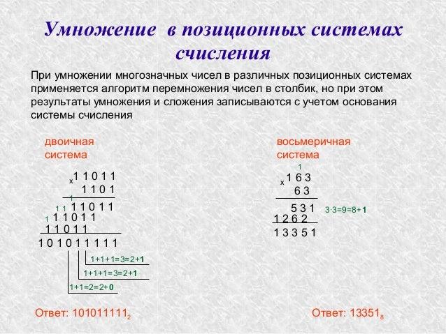 3∙3=9=8+1 Умножение в